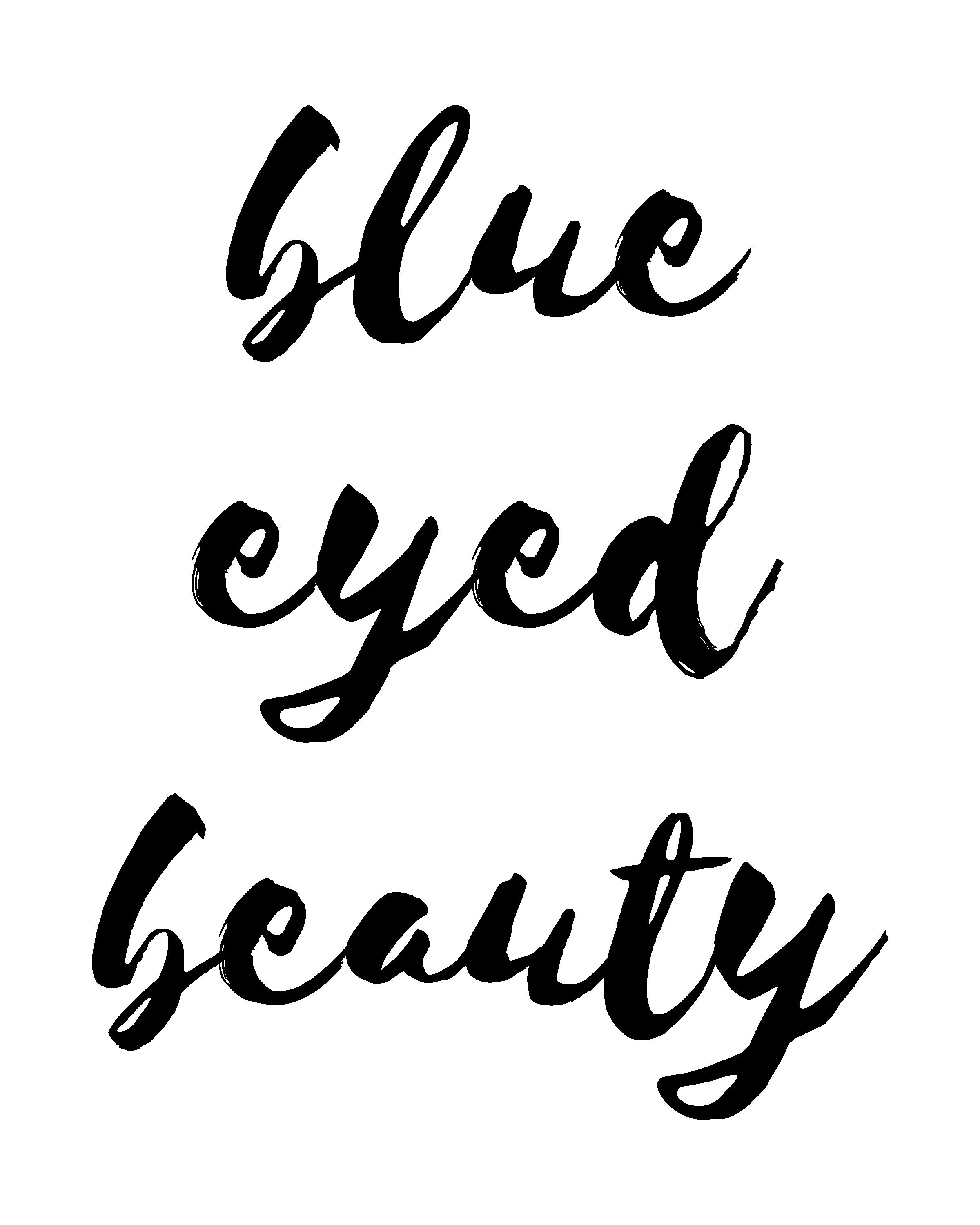 Blue Eyed Beauty Wallthreads Blue Eye Quotes