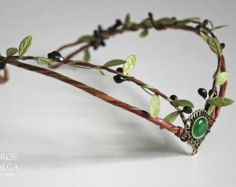 Woodland elf tiara - elven headpiece - fairy crown woodland tiara - circlet - elf tiara - elven tiara - woodland wedding crown