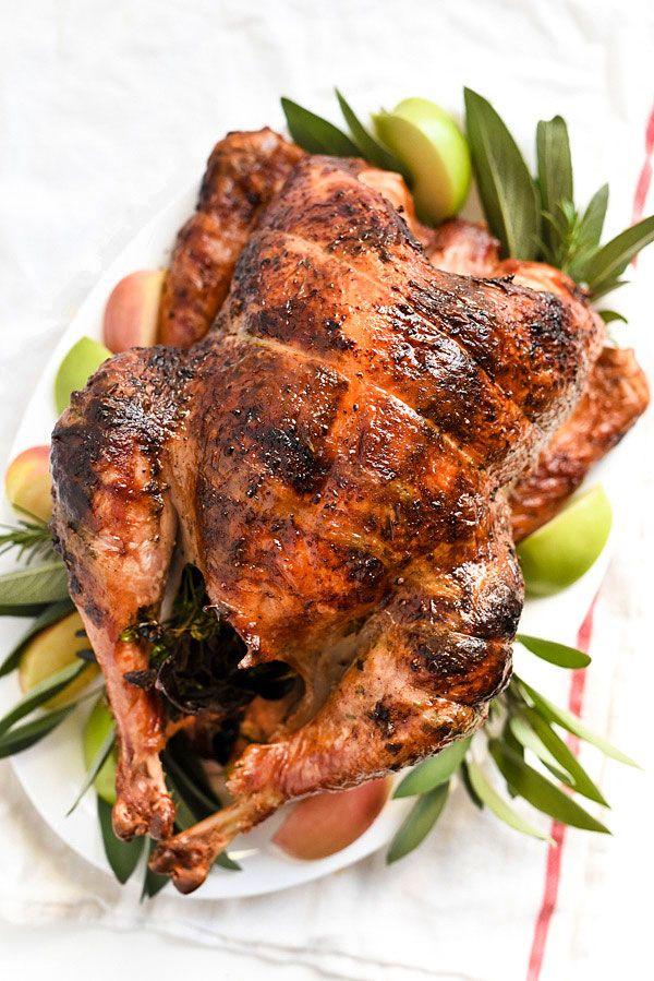 Photo of Rotisserie Herb Butter Turkey Recipe | foodiecrush.com