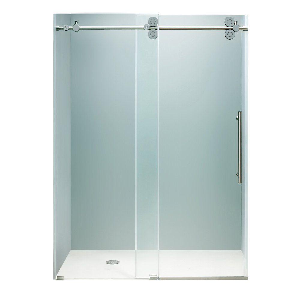 Vigo Vg6041chcl6074 60 Inch Frameless Shower Door 3 8 Quot Clear