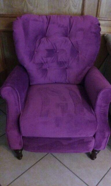 Purple recliner