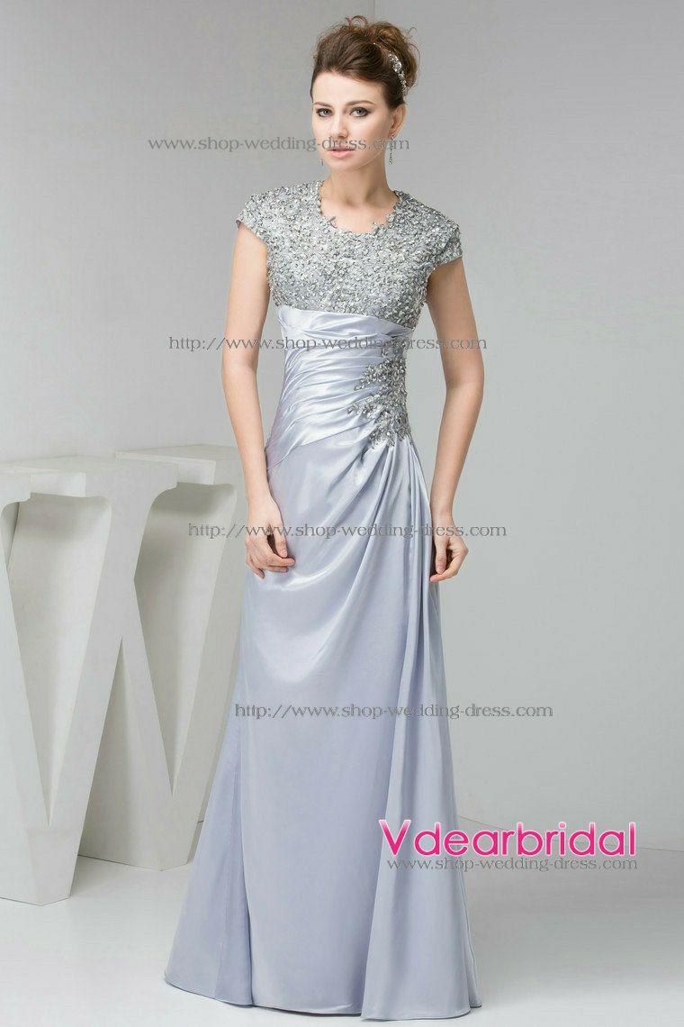 aae11956d0499 modest silver bridesmaid dresses - Google Search