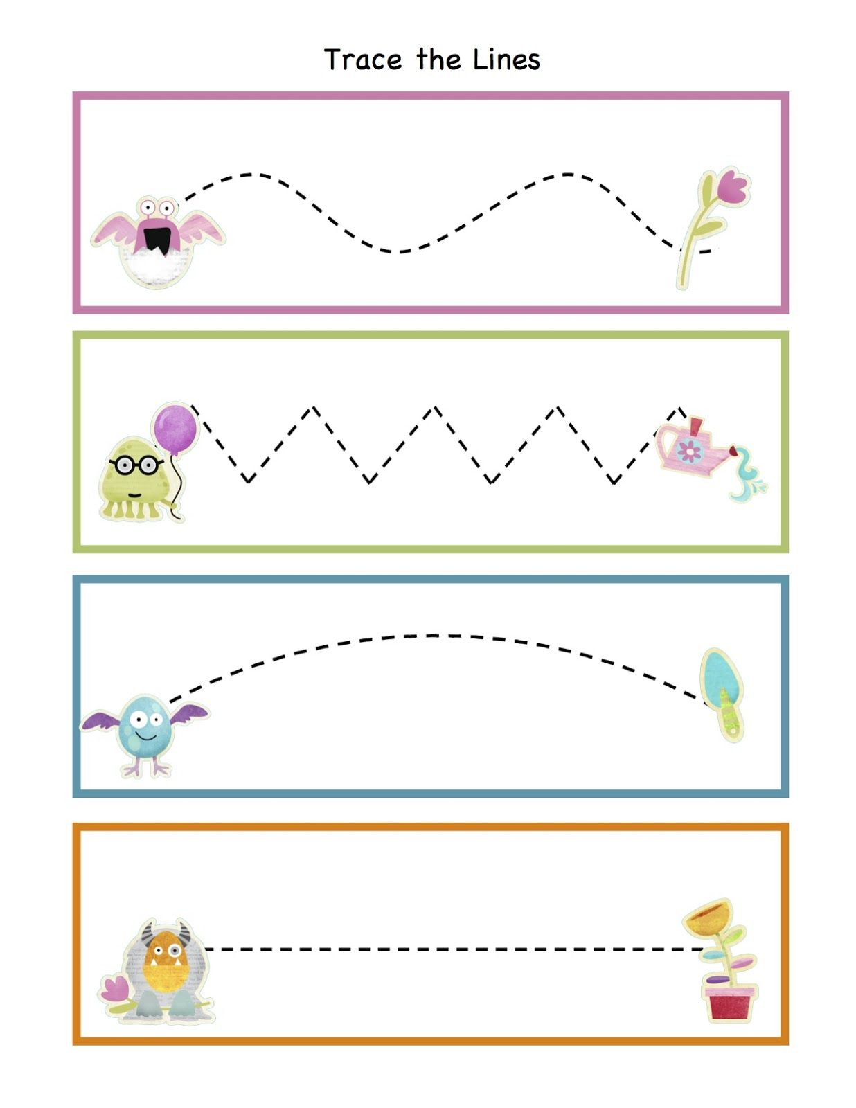 Monster Friends Forever Printable Preschool Printables