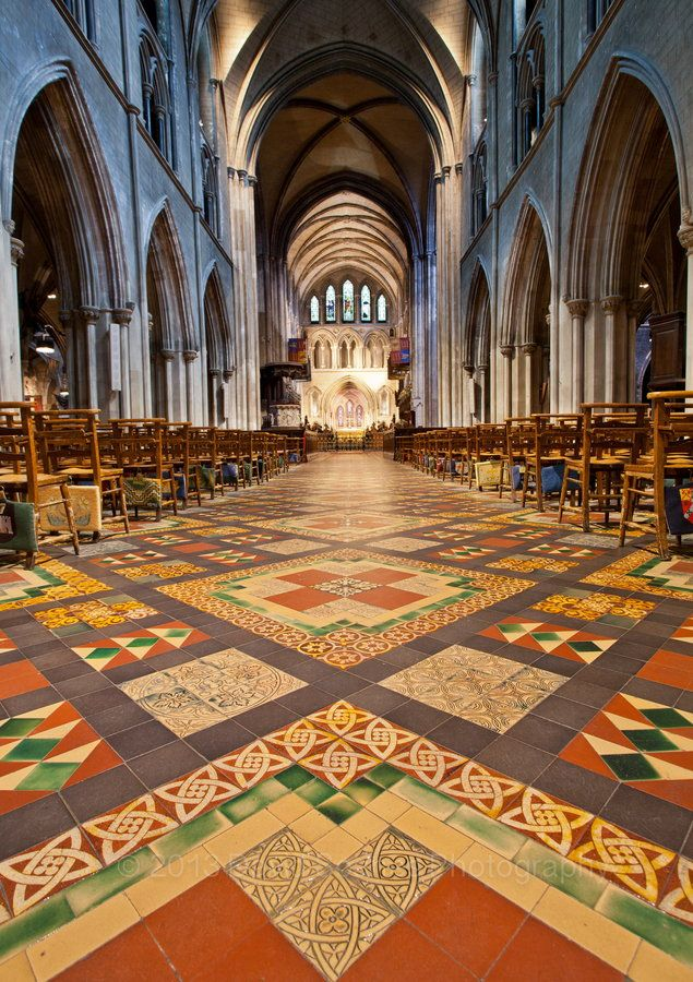 I loved the floors in person.  The Irish people's church seems so much more cheerful with these colorful tiles.  St. Patrick's Cathedral, Dublin
