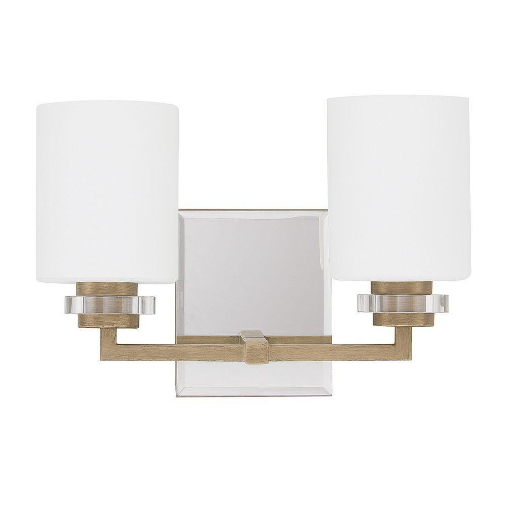 Austin Allen Co Light Brushed Gold Bath Vanity Light Bath - Brushed gold bathroom light fixtures