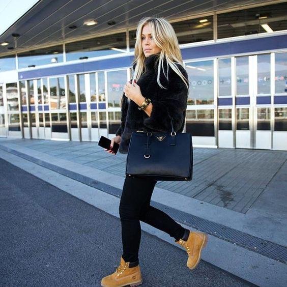 Тимберленды (55 фото) С чем носить ботинки    стиль   Pinterest ... a9cd0adcd8a