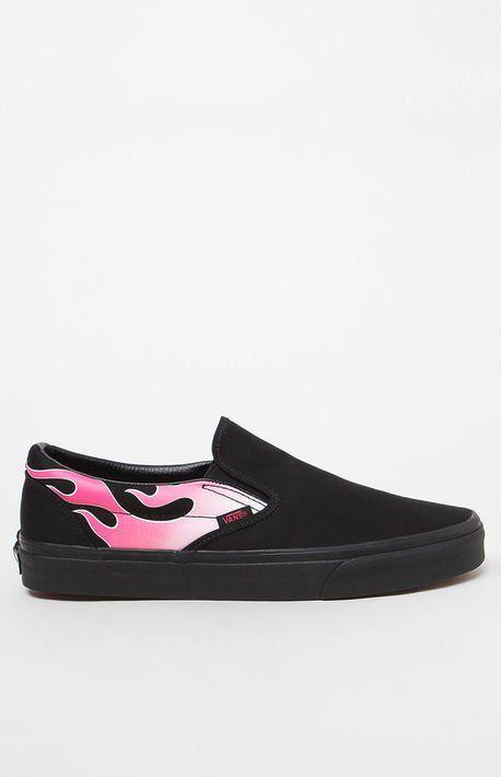 Flame Classic SlipOn Shoes  The Shopping List 2018  Pinterest  Van shoes