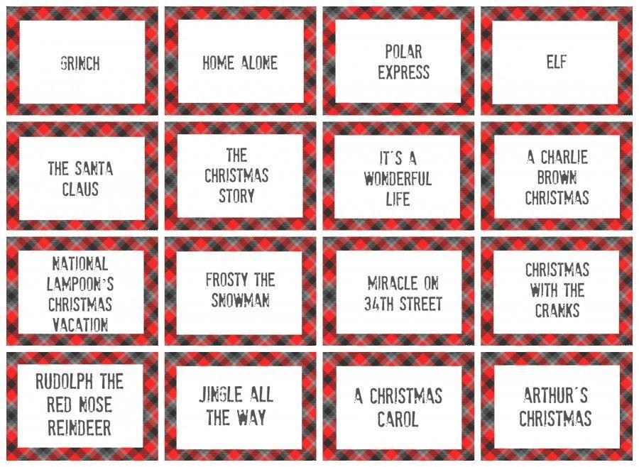 christmas charades game and free printable roundup - Christmas Movies For Free
