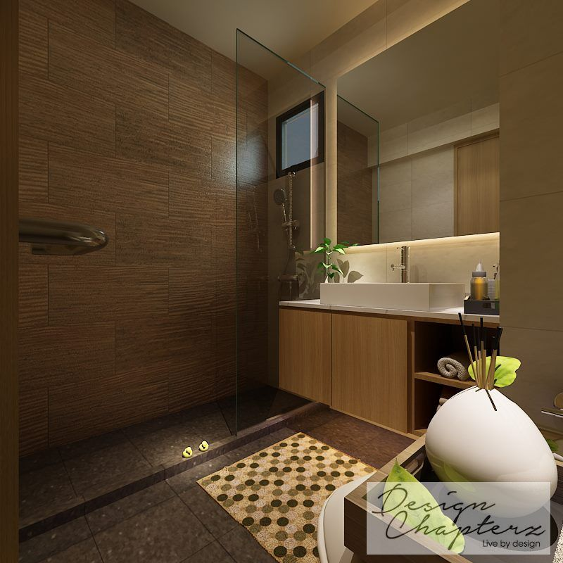 Design Chapters Modern Scandinavian Master Bathroom