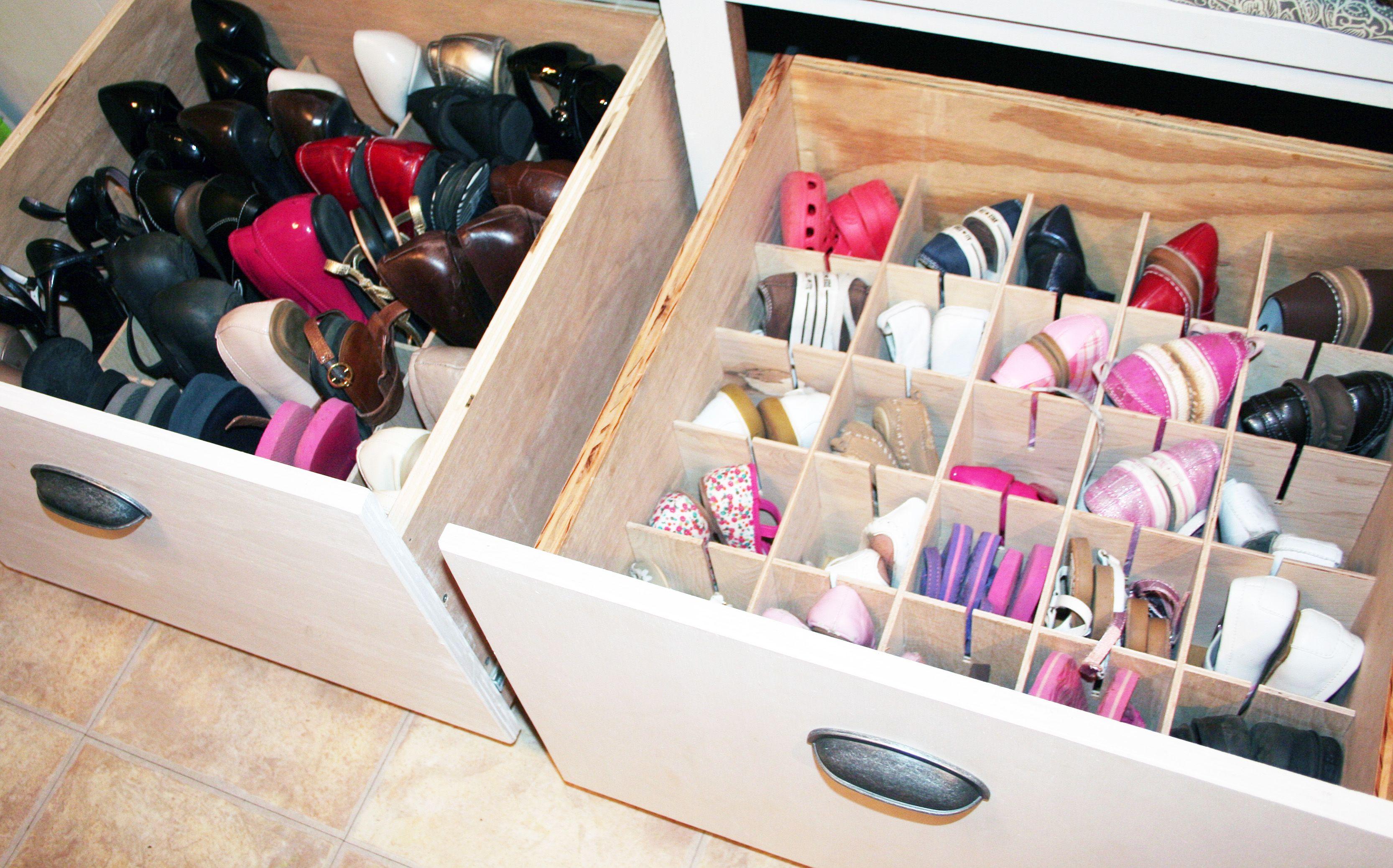 Deep Drawer Shoe Organization