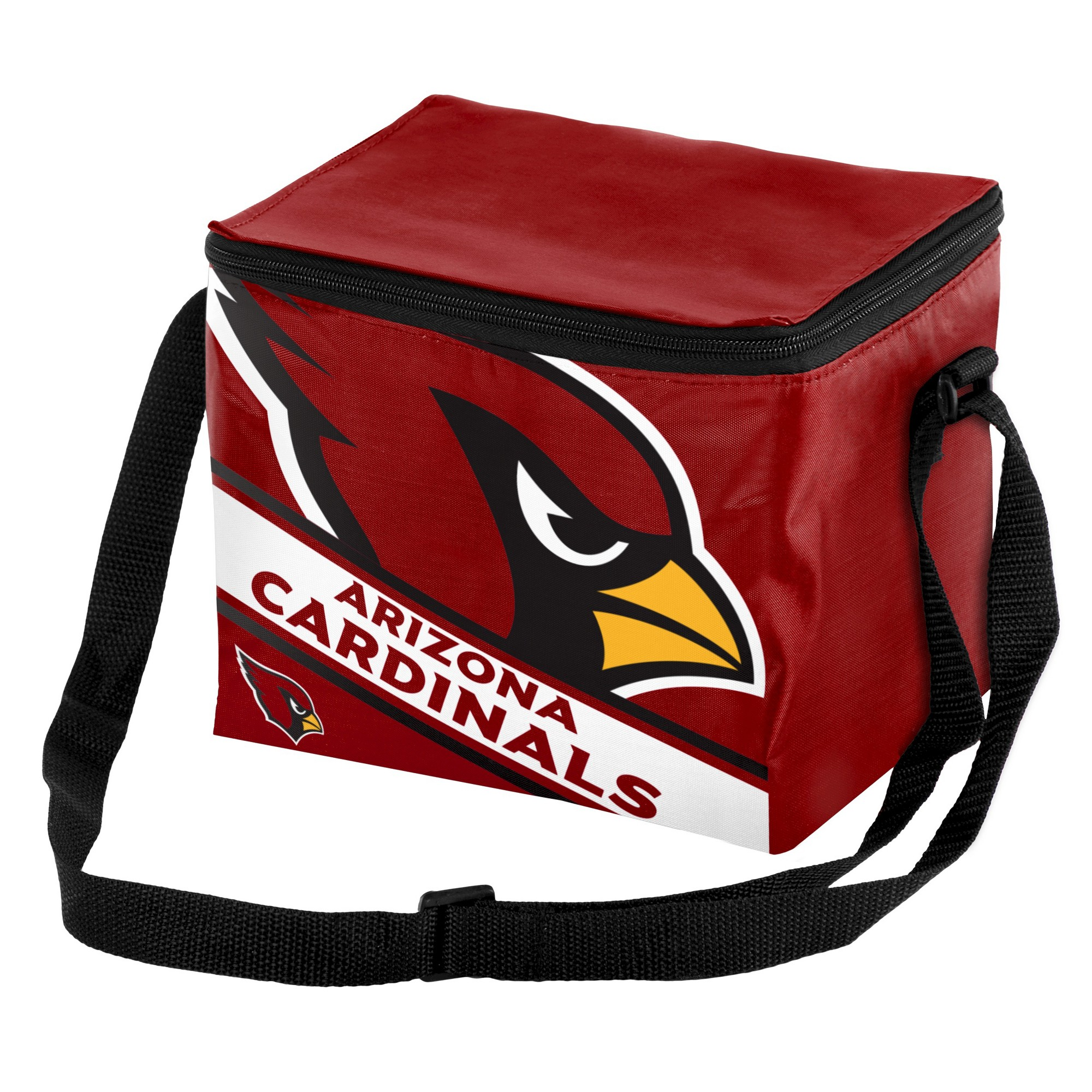 ef7a7310811 NFL Arizona Cardinals Big Logo Stripe 6pk Cooler