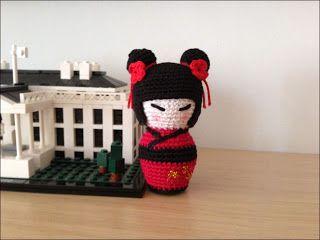 Amigurumi Kokeshi Doll Pattern : Madres hiperactivas: kokeshi amigurumi english pattern crochet