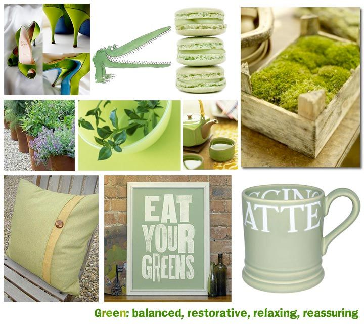mood board examples - clean, refreshing, and green