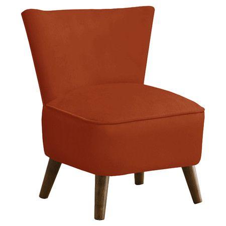 Rust Orange Draper Chair Furniture Mid Century Chair