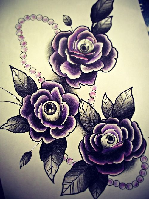 Rose Eyes Tattoo Flash Remove The Eyes And The Pearls And This Is