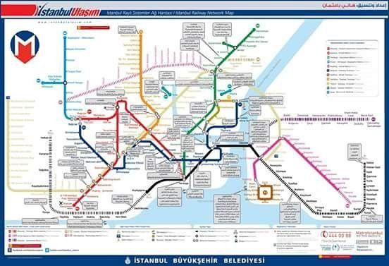 سواء كان الغرض من العقار سكني او استثماري من المهم جدا ان يكون العقار قريب من المواصلات العامة وبالآخص المترو و المتروبوس لذلك نقدم Istanbul Map Metro Map Map