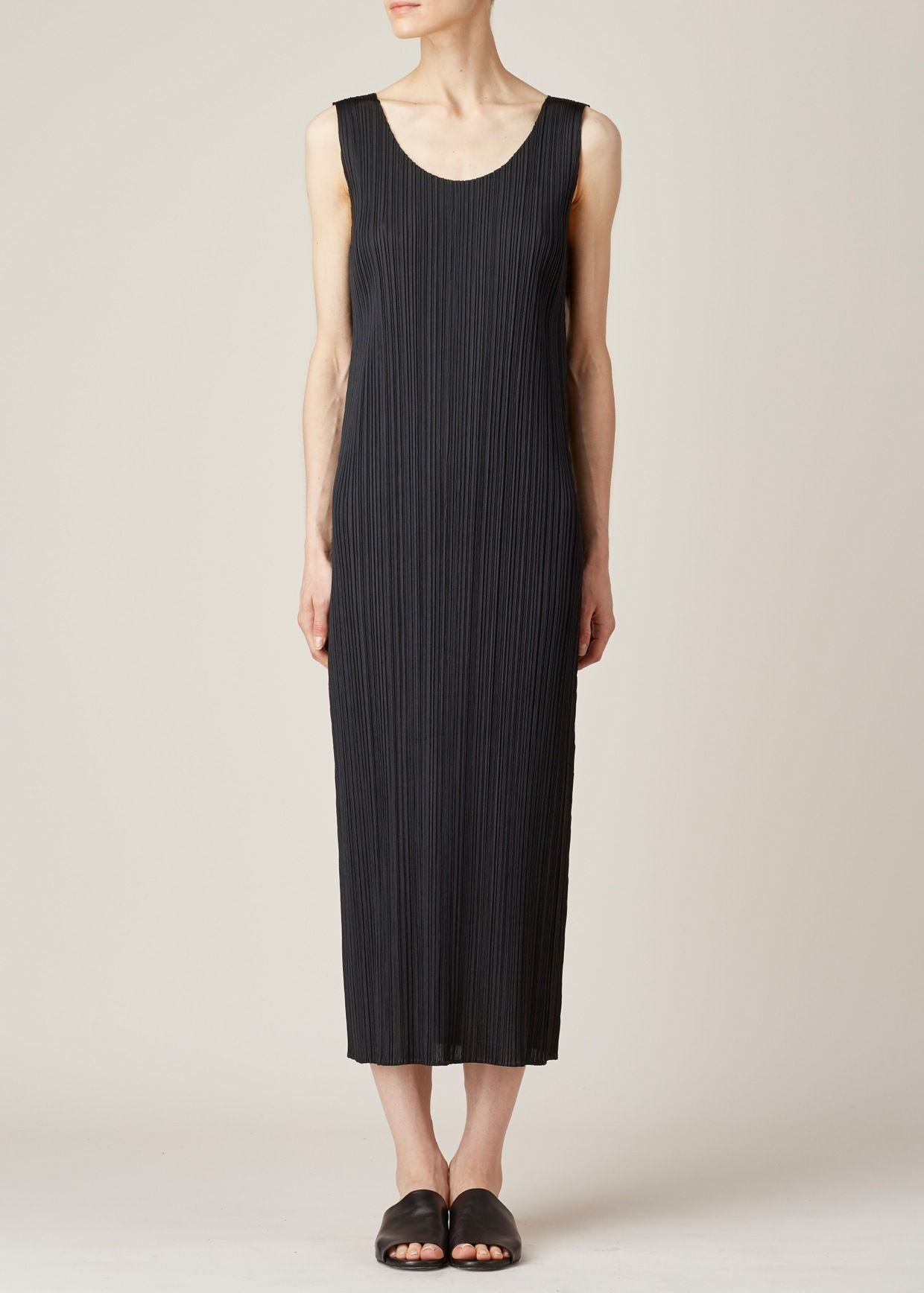 5f006d138e09f Totokaelo - Issey Miyake PLEATS PLEASE Black Tank Dress