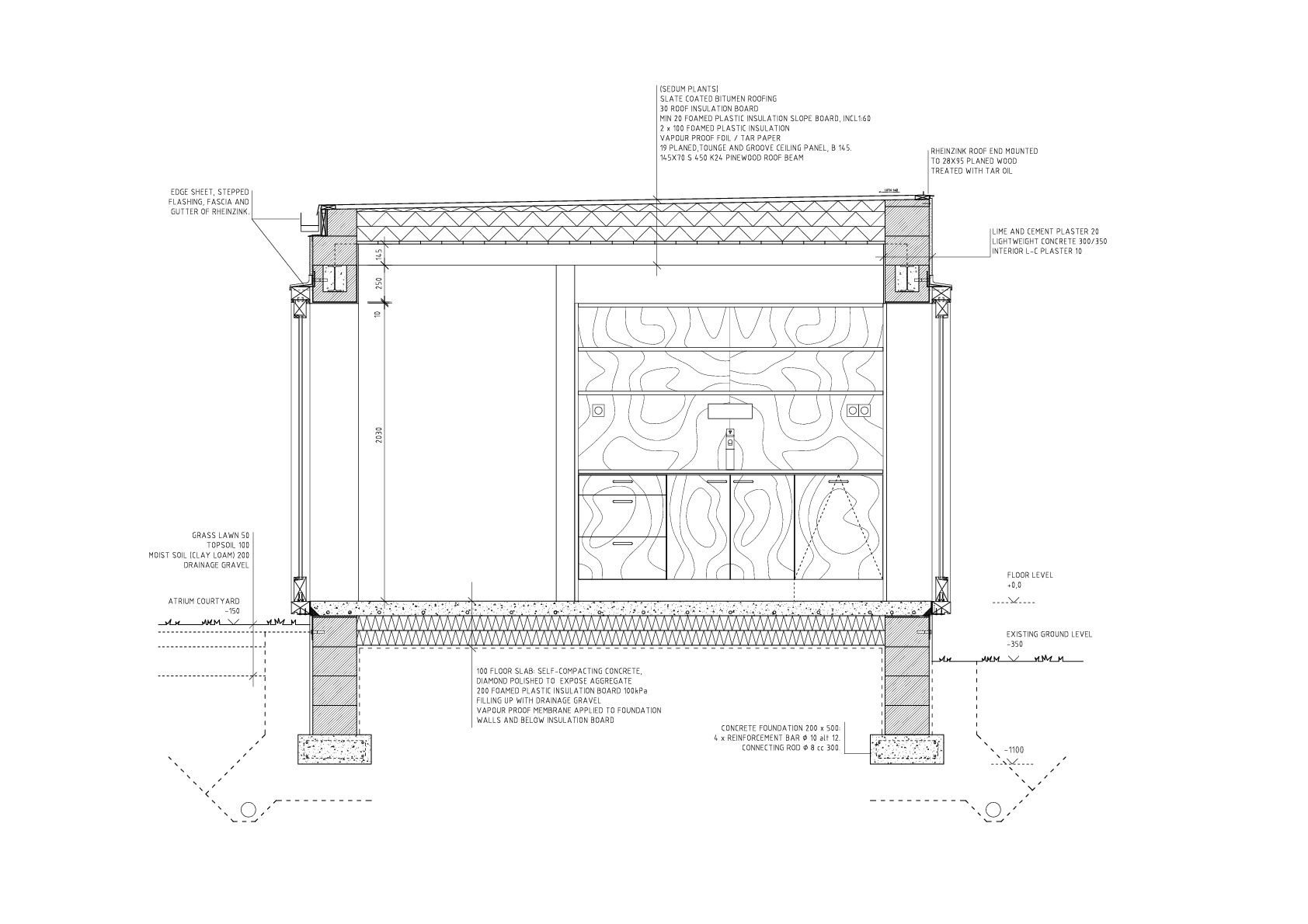 Gallery of atrium house tham videgård arkitekter 17 flat roofarchitecture detailsatrium