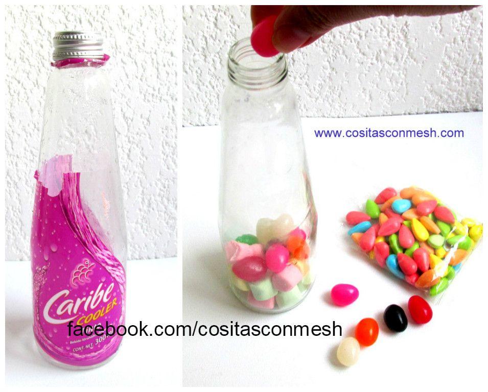 Cómo Decorar Botellas Con Dulces Para Regalar En San