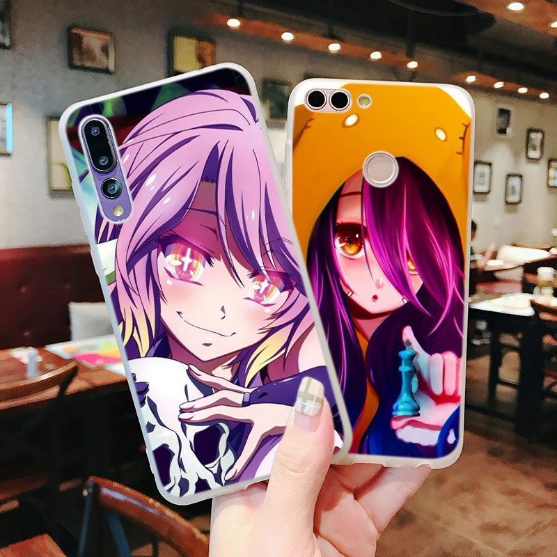 premium selection e7859 96ad6 Silicone Phone Case Game NO Life Anime For Huawei P Smart 2019 P30 ...