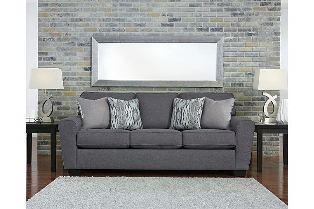 In The Chicest Shade Of Gray Calion Sofa S Linen Weave Upholstery