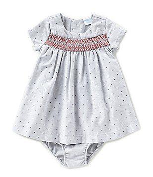 496ecfe797 Edgehill Collection Newborn-24 Months Smocked Dotted Dress