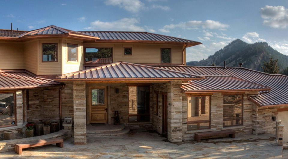 Best Love The Exterior Colors Copper Roof With Tan Siding And 640 x 480
