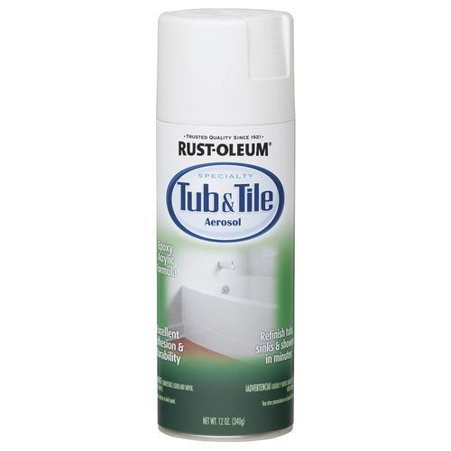Rust Oleum Reg Specialty White Tub Tile Spray Paint 12 Oz