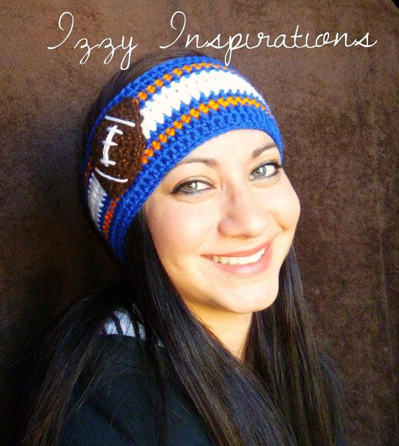 Football Headband Earwarmer | crochet | Pinterest