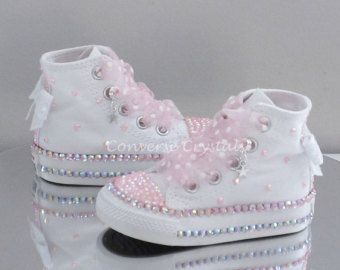 Infant Custom Crystal *Bling* Converse - Single Row Crystals | Taufe ...