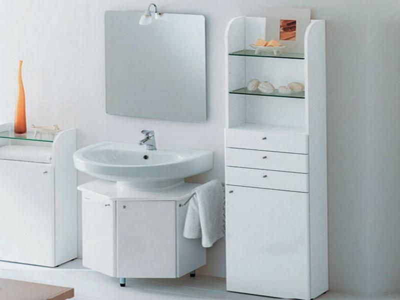 Bathroom Design, Gorgeous Small Bathroom Vanity Sinks White Background With  Stand Cabinet Combine Shelves Also Fashionable Mirror Lamp Inspirations:  The ...
