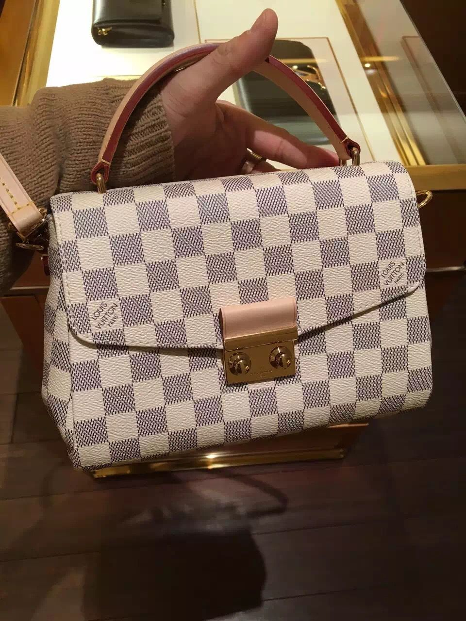 74a3c76f1a4d Louis Vuitton Damier Azur Croisette Bag N41581 www.luxvipshopper.com  N41581 …