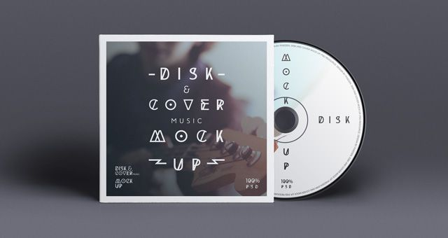 Vinyl CD Cover Design for Free Download Mockups PSD Templates - psd album cover template