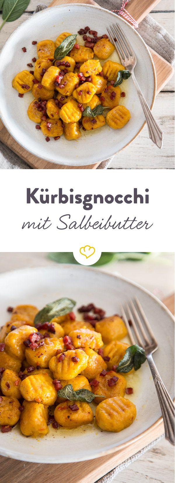 Für kalte Tage: Kürbisgnocchi mit Speck und Salbeibutter #recipeshealthy