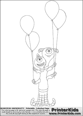 Monsters University - Terri and Terry Perry #13 - Coloring Page ...