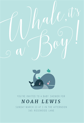 Quot Whale It S A Boy Quot Printable Invitation Template