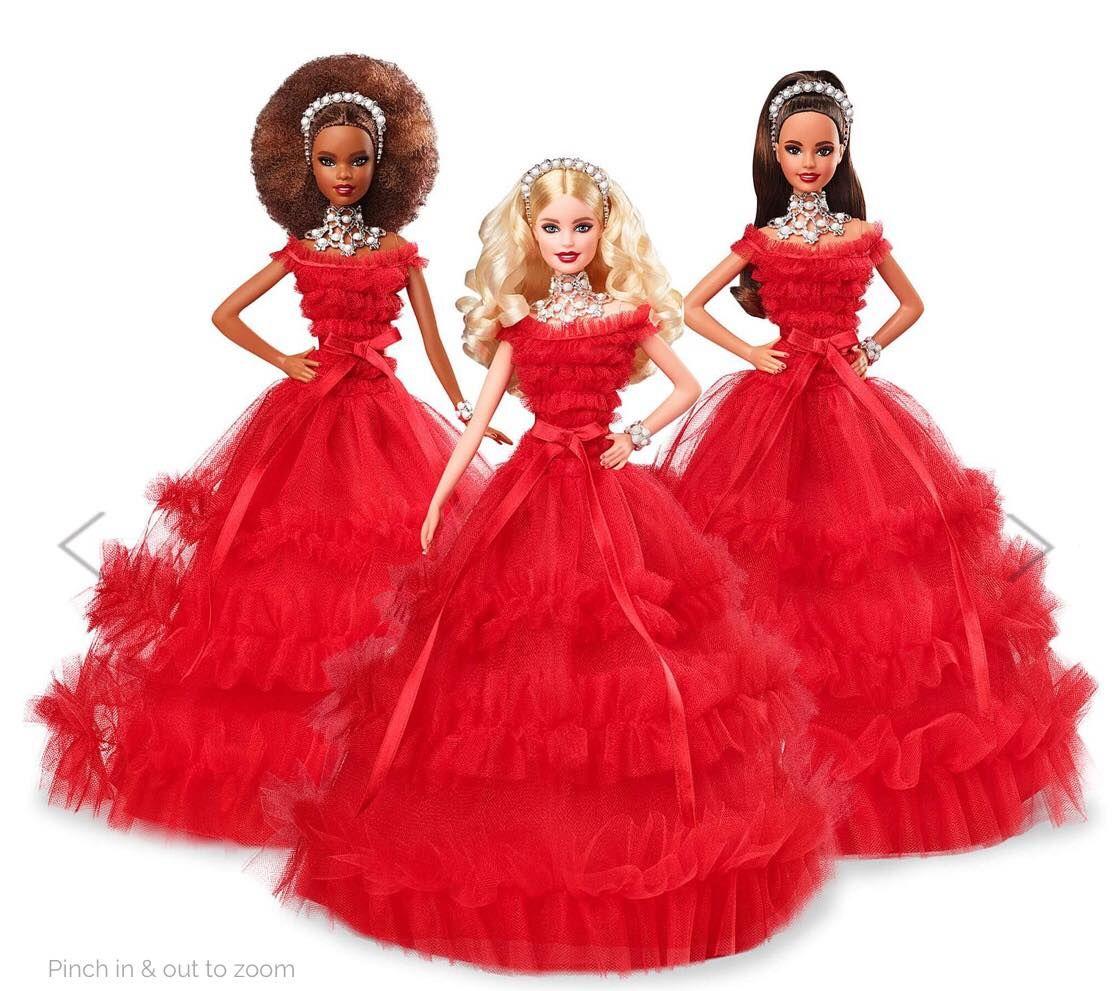 Barbie Noel 2018 Holiday Barbie Dolls 2018 | Vêtements barbie, Barbie, Poupées barbie
