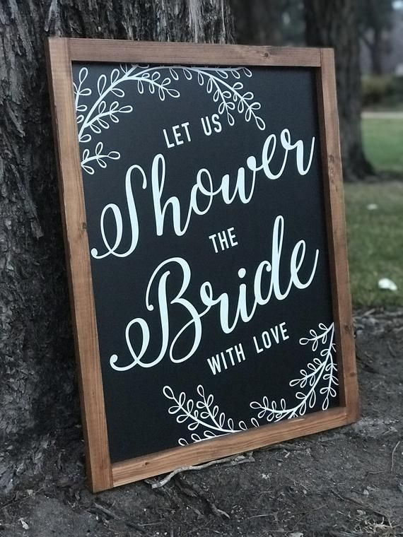 Bridal Shower Chalkboard | Shower the Bride | Custom Chalkboard Signs | Chalkboard Sign | Framed Chalkboard | Welcome Sign