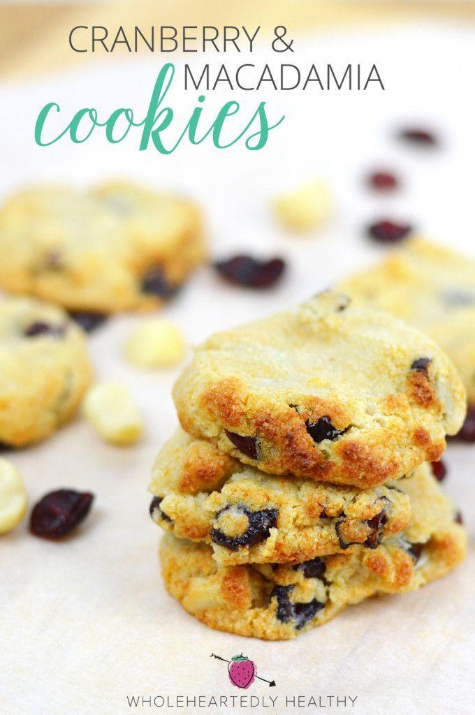 Cranberry & Macadamia Cookies vegan + paleo!