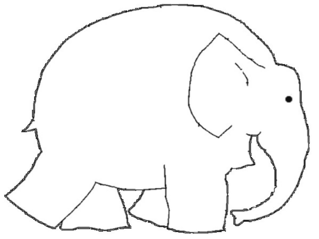 Elmer Elephant Coloring Page