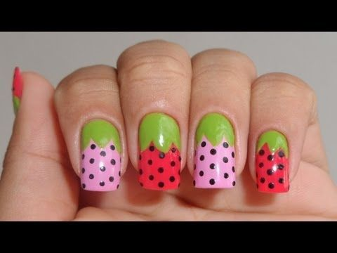 Strawberry Nail Art Video Step By