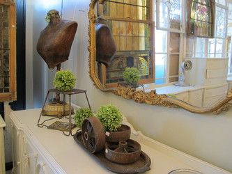 Just a reminder to collect various goodies to use as props in displays throughout the year. Blue Door Antiques and Elements - gallery