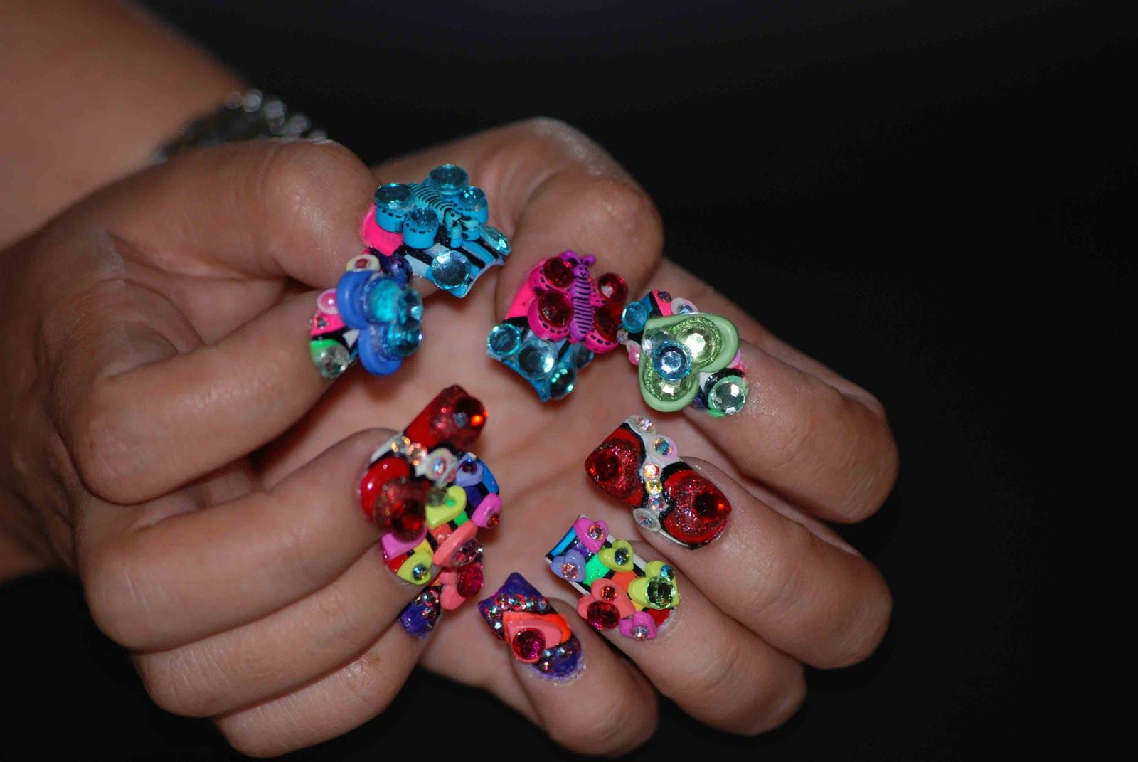 Extreme Nail Designs Bellagemanails Rainbow Bright By