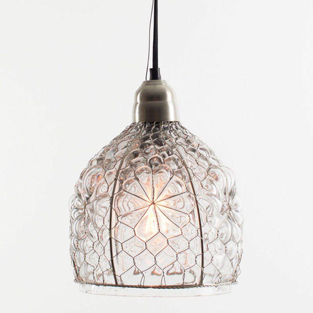 Kalalou NNL1000 Electric Pendant Lamp with Glass Shade - Ceiling Pendant Fixtures - Amazon.com