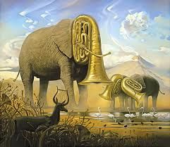 African Sonata by Vladmir Kush. Surrealist artists tended to disregard the  conventional boundaries of socially accepted behavior so that they could freely express their true natures.  Subsequently, many surreal artworks contained themes such as sexuality, decay, violence, and the ridiculous.