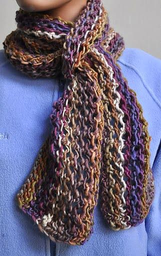 Colorful Lace Scarf Knitting Pattern | Knitting projects | Pinterest ...