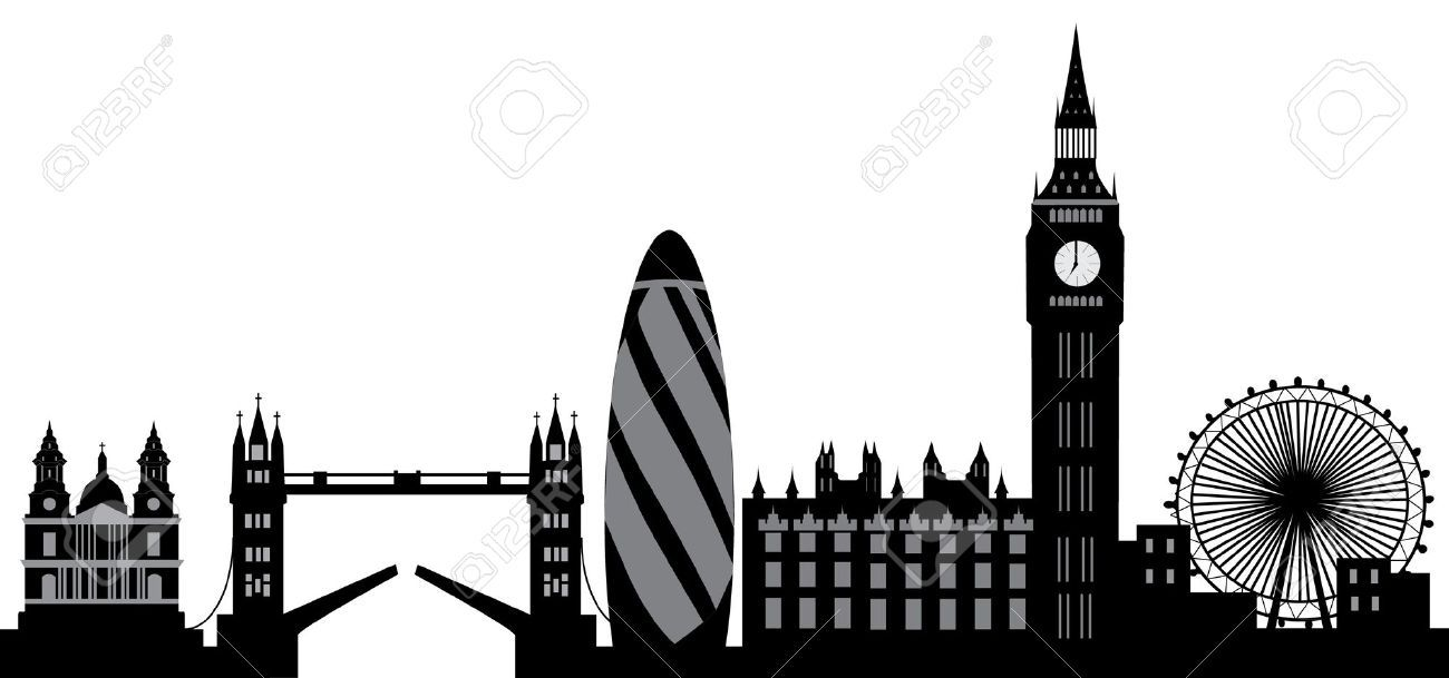 Line Drawing Tattoo London : London skyline stock illustrations cliparts and royalty