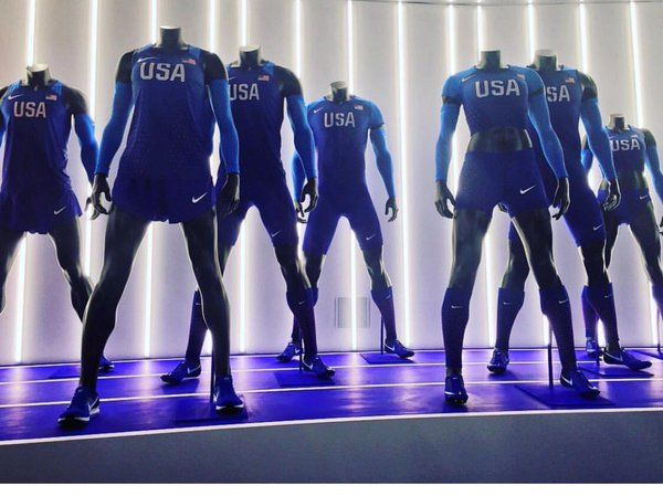 Team USA Olympic Track and Field uniforms (men and women) by Nike. Rio 2016.