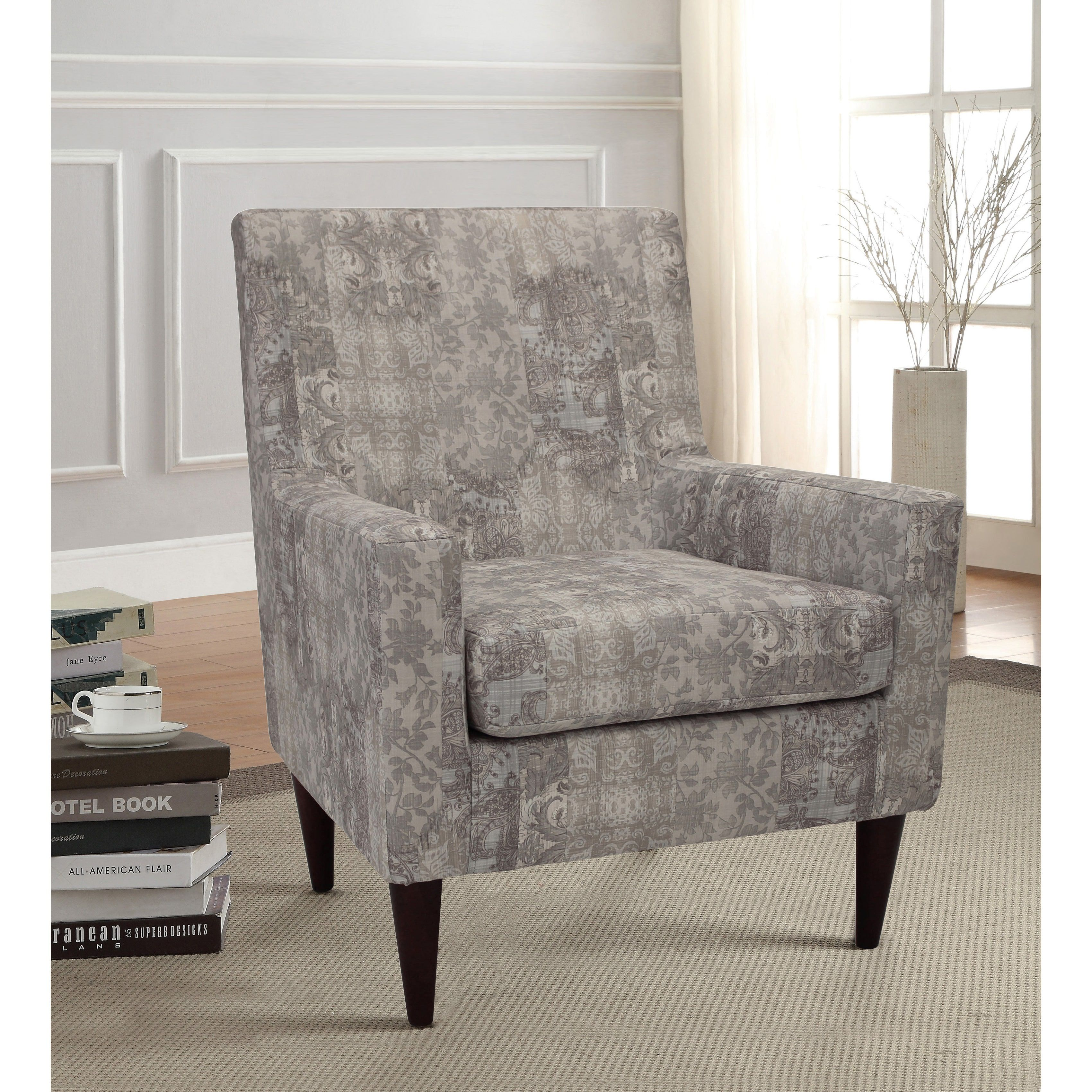International Emma Arm Chair Linen Linen Multi Foam