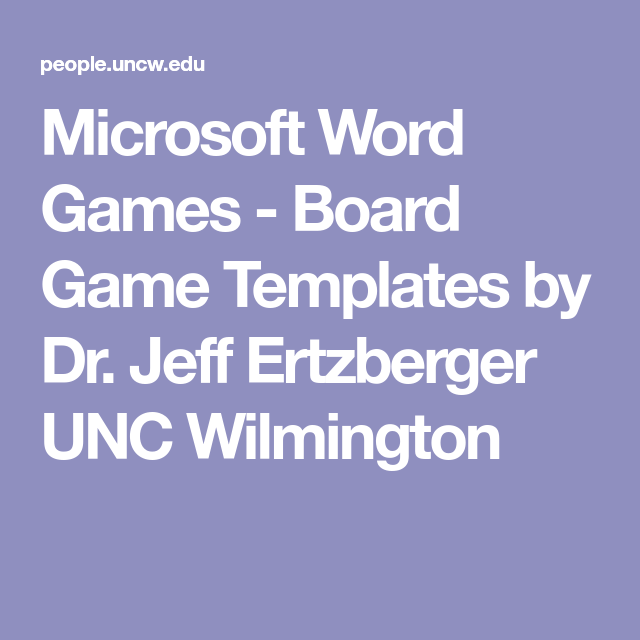 board game templates microsoft word